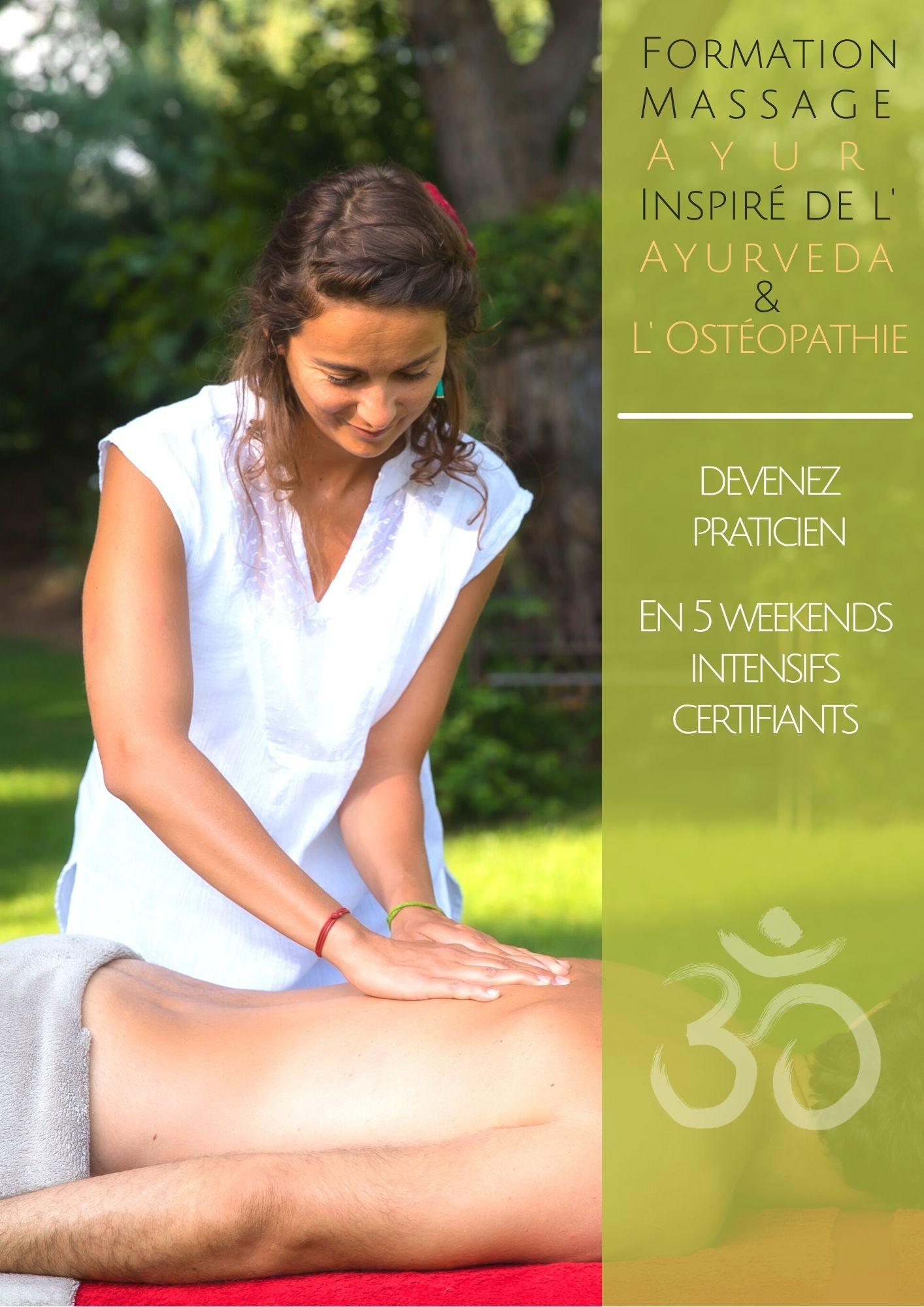 formation Ayur le massage ayurvédique inspiré ostéopathie Guillaume Calabretto Julie Delias Cathie Marchan