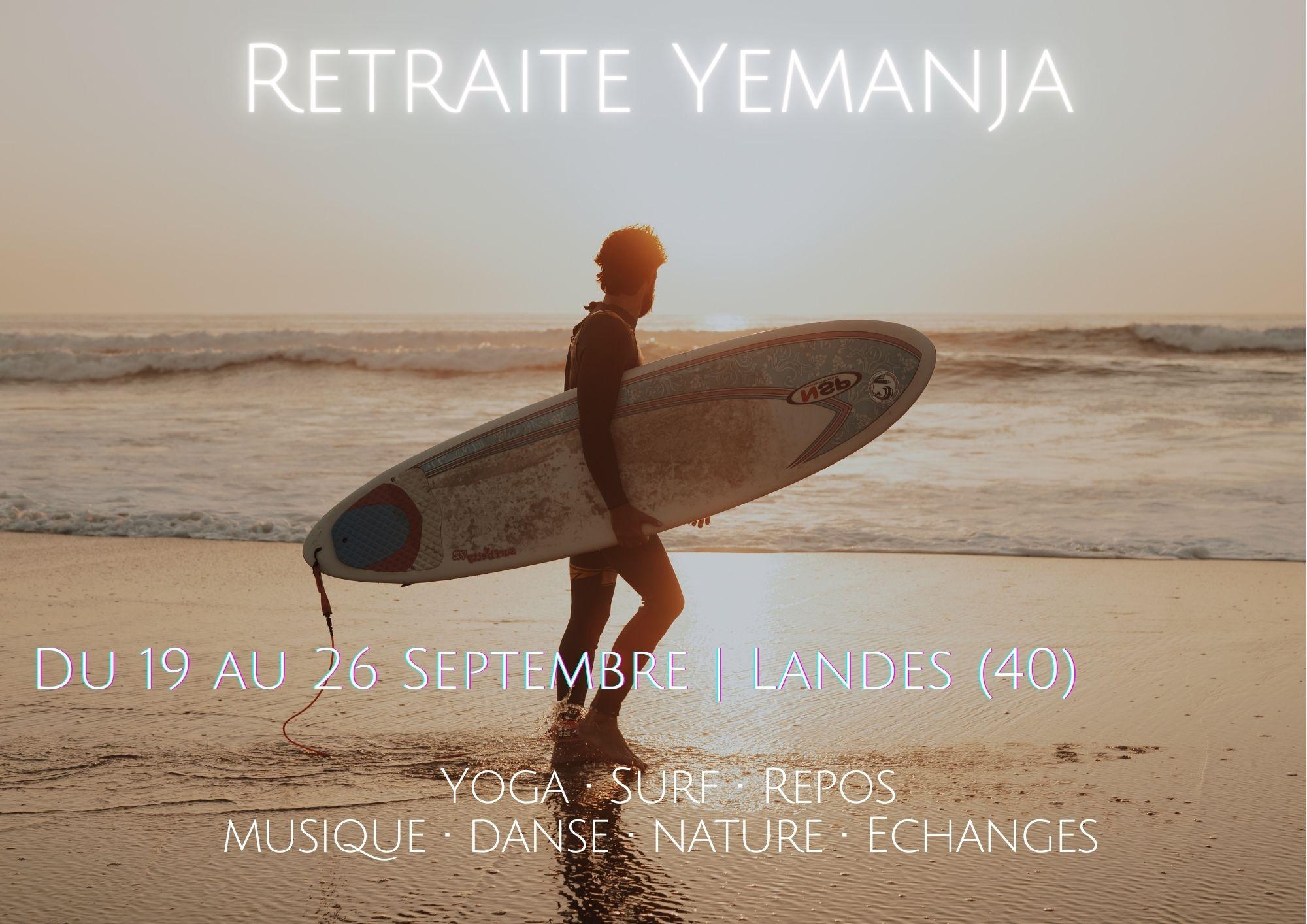 Retraite Yoga Surf Yemanja dans les Landes Capbreton avec Guillaume Calabretto et Marije Evertse