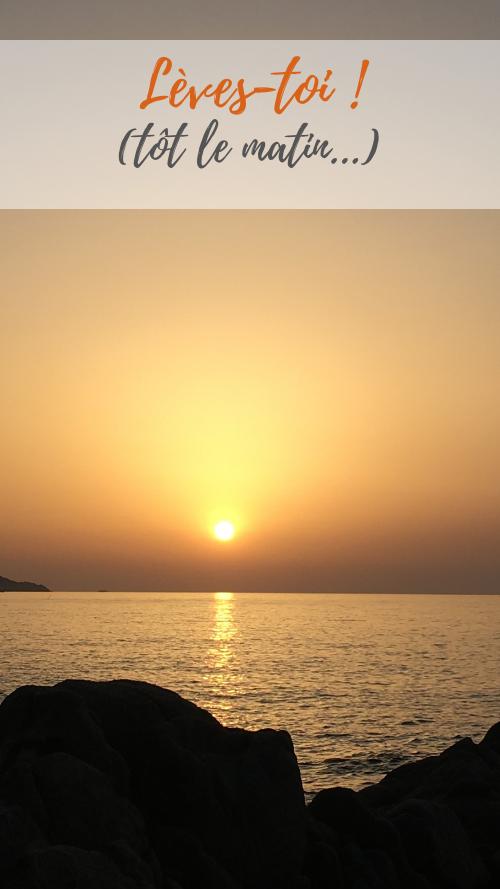 Se lever tôt le matin pratique yoga matinal pour la santé psychologique émotionnelle Guillaume Calabretto
